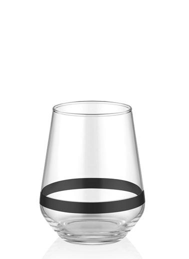 The Mia Dark Su Bardağı Kısa 6 Lı Set Siyah